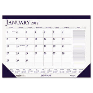 House Of Doolittle Two-Color Monthly Desk Pad Calendar w Large Notes Section